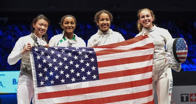 The United States will be looking to defend their title in the junior women's team foil event ©USA Fencing