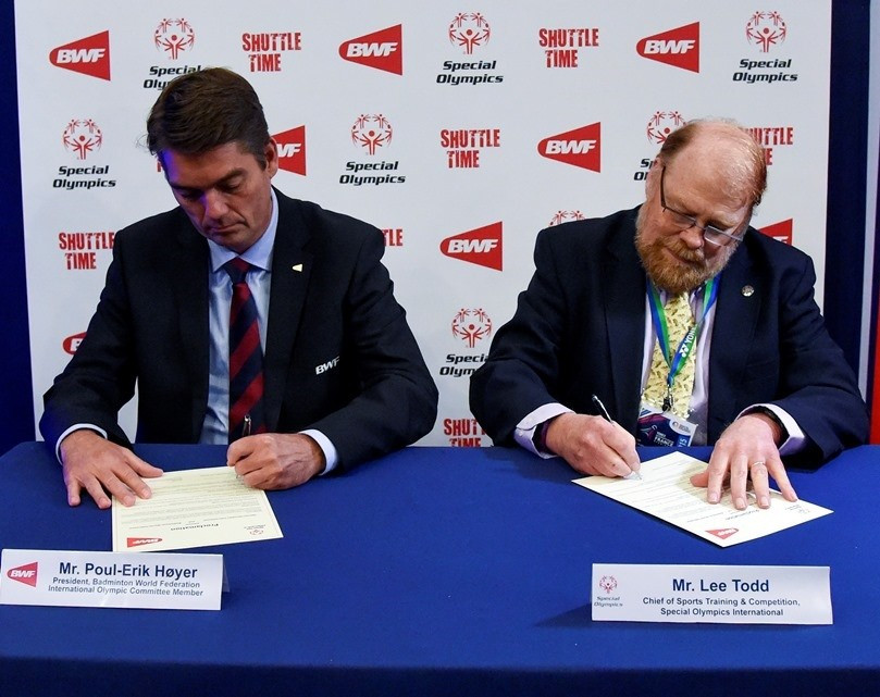 "Special Olympics to benefit from ""Shuttle Time"" initiative after signing agreement with BWF"