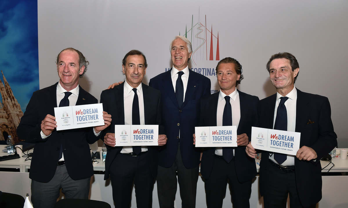 Milan Cortina was awarded the 2026 Winter Olympics in June 2019 ©CONI