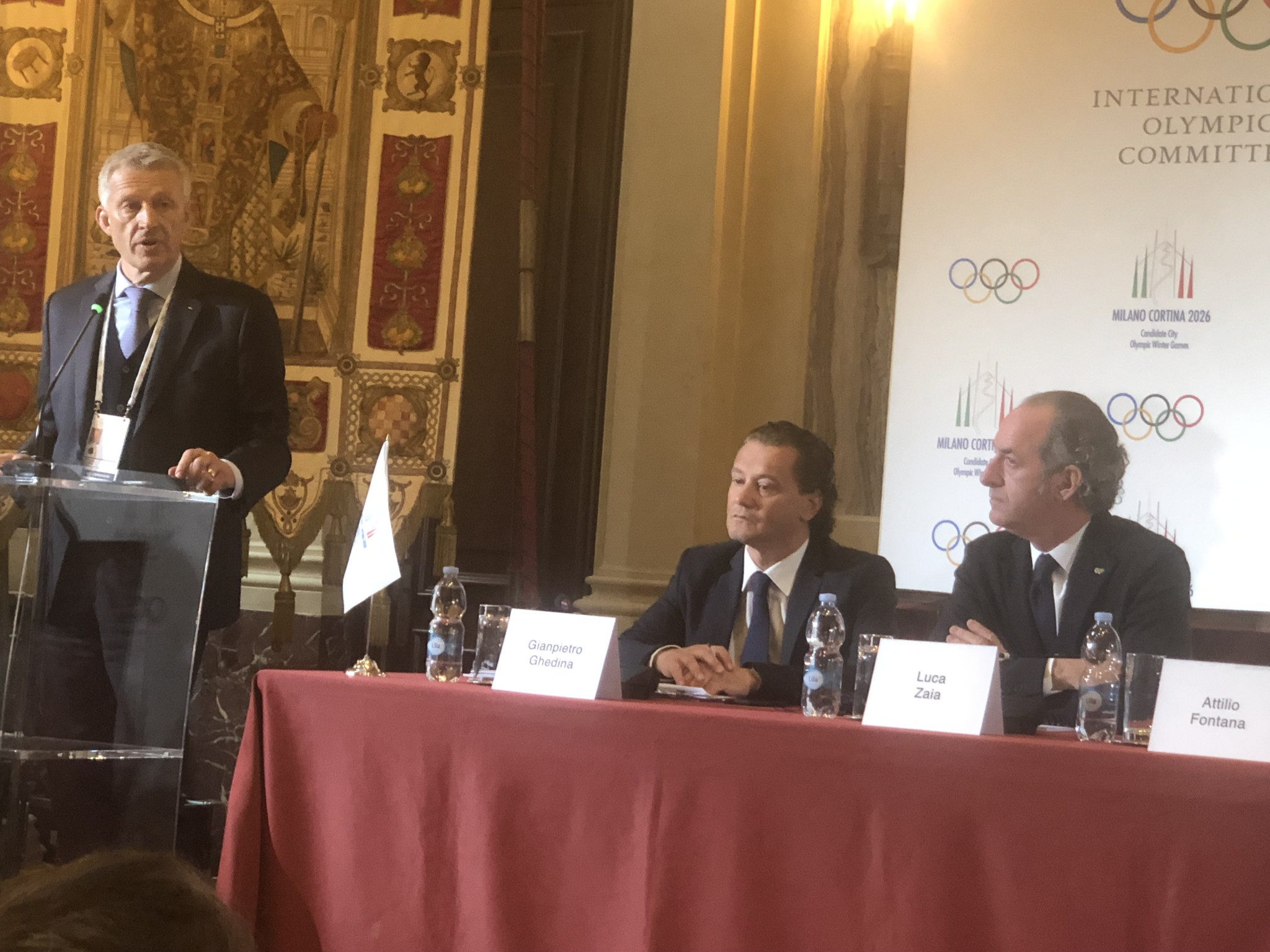 IOC Evaluation Commission chair Octavian Morariu claimed he was not surprised by the strong poll results that showed nationwide support for Milan Cortina 2026, with 83 per cent backing it ©ITG
