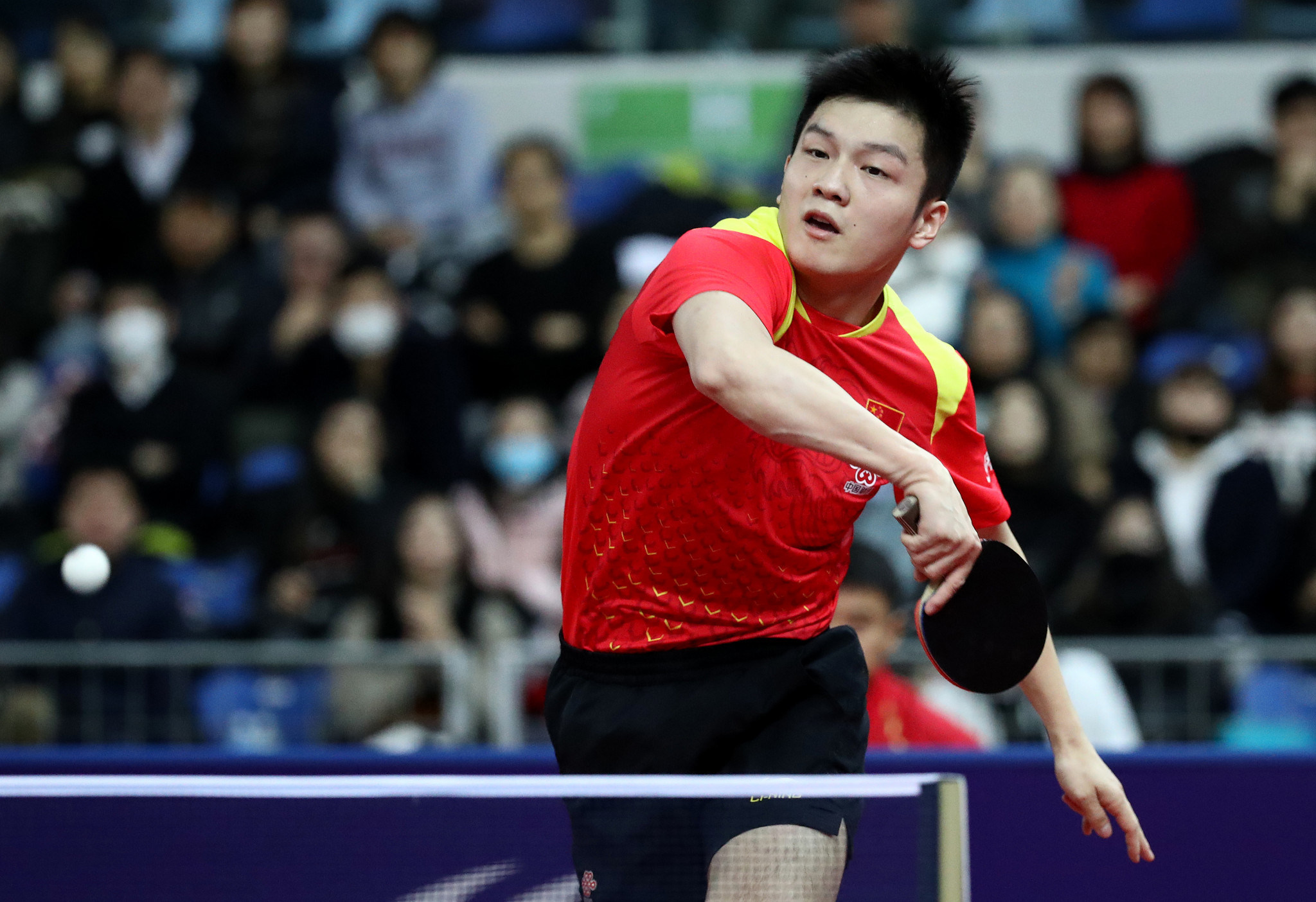 Fan Zhendong is one match away from defending his men's singles title ©Getty Images