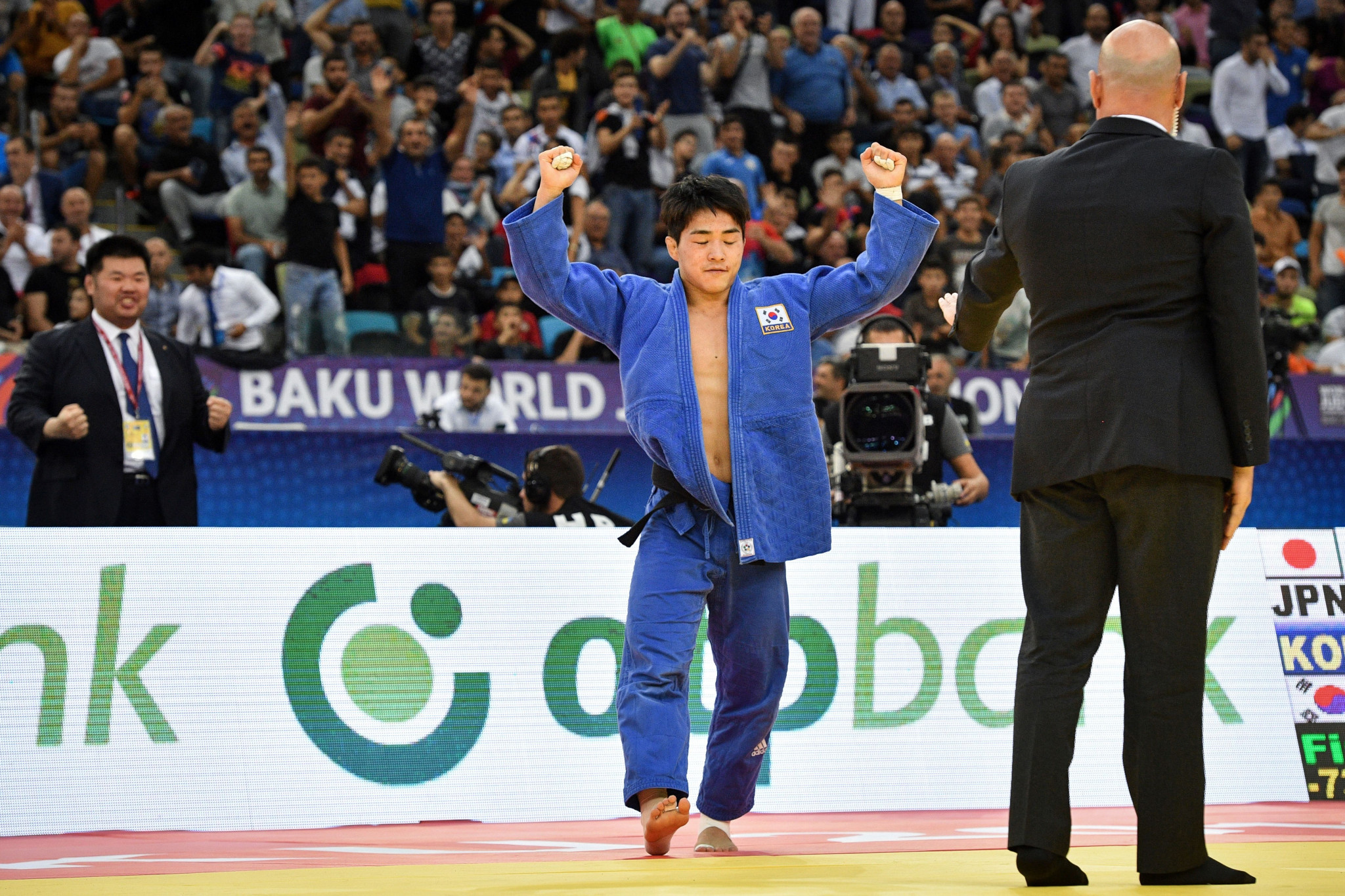 Reigning world champion An Chang-rim won gold in the men's under 73kg final ©Getty Images