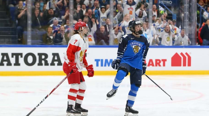 Finland claimed an impressive win over Russia ©Andre Ringuette/HHOF-IIHF Images