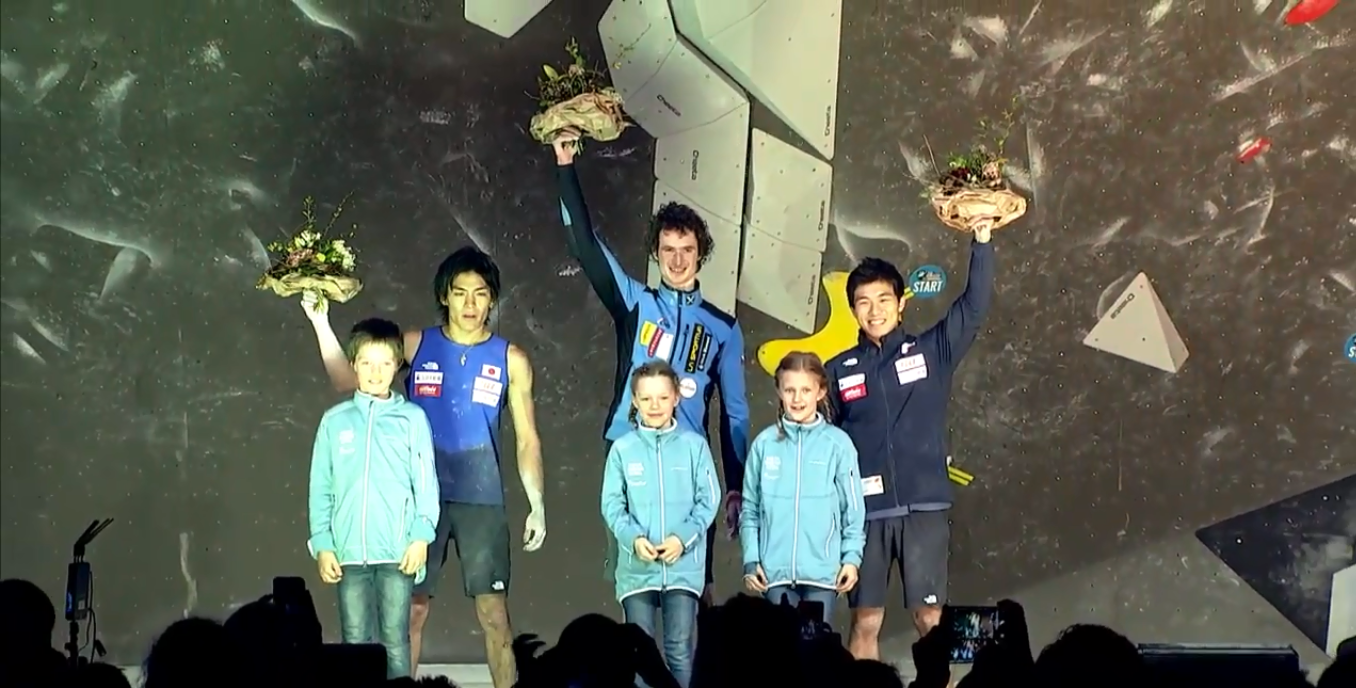 Czech Republic's Adam Ondra won the opening men's event of the season ©IFSC