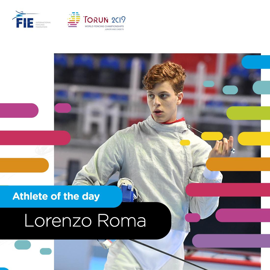 Favourite Roma wins junior men's sabre on opening day of Junior and Cadet World Fencing Championships