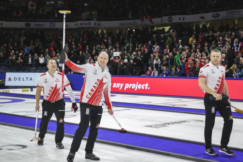Canada to face Sweden yet again in Men's World Curling Championship final