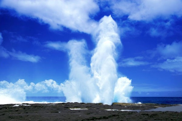 Taga village is most well known for the Alofaaga blowholes ©Samoa 2019