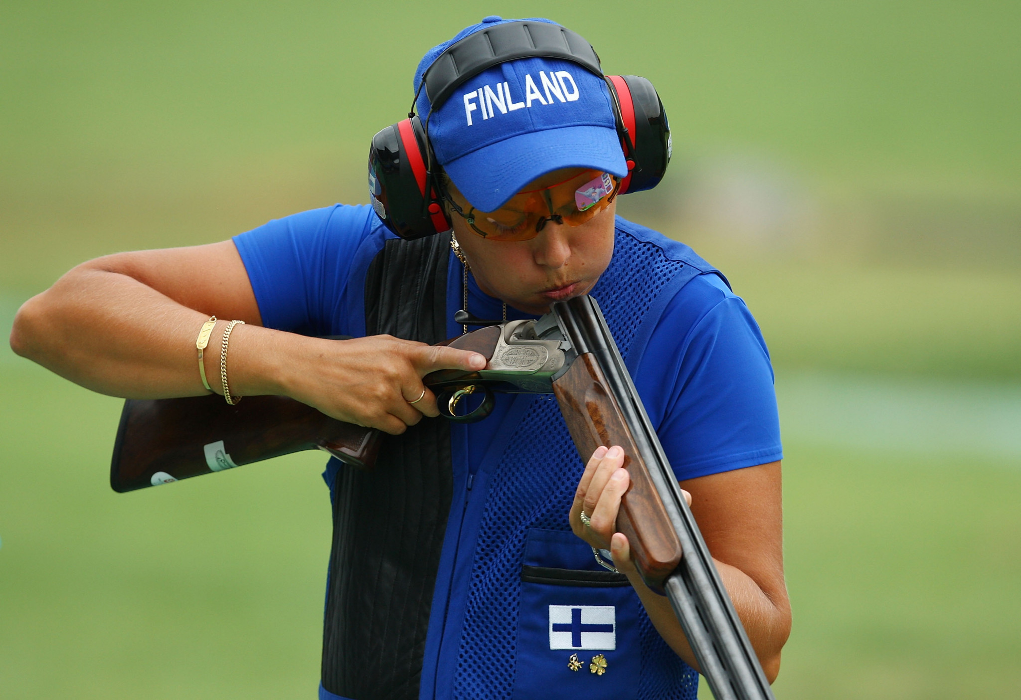 Finland's world record holder Satu Makela-Nummela only qualified in 27th place for tomorrow's Women's Trap final in the ISSF Shotgun World Cup in Al Ain ©Getty Images