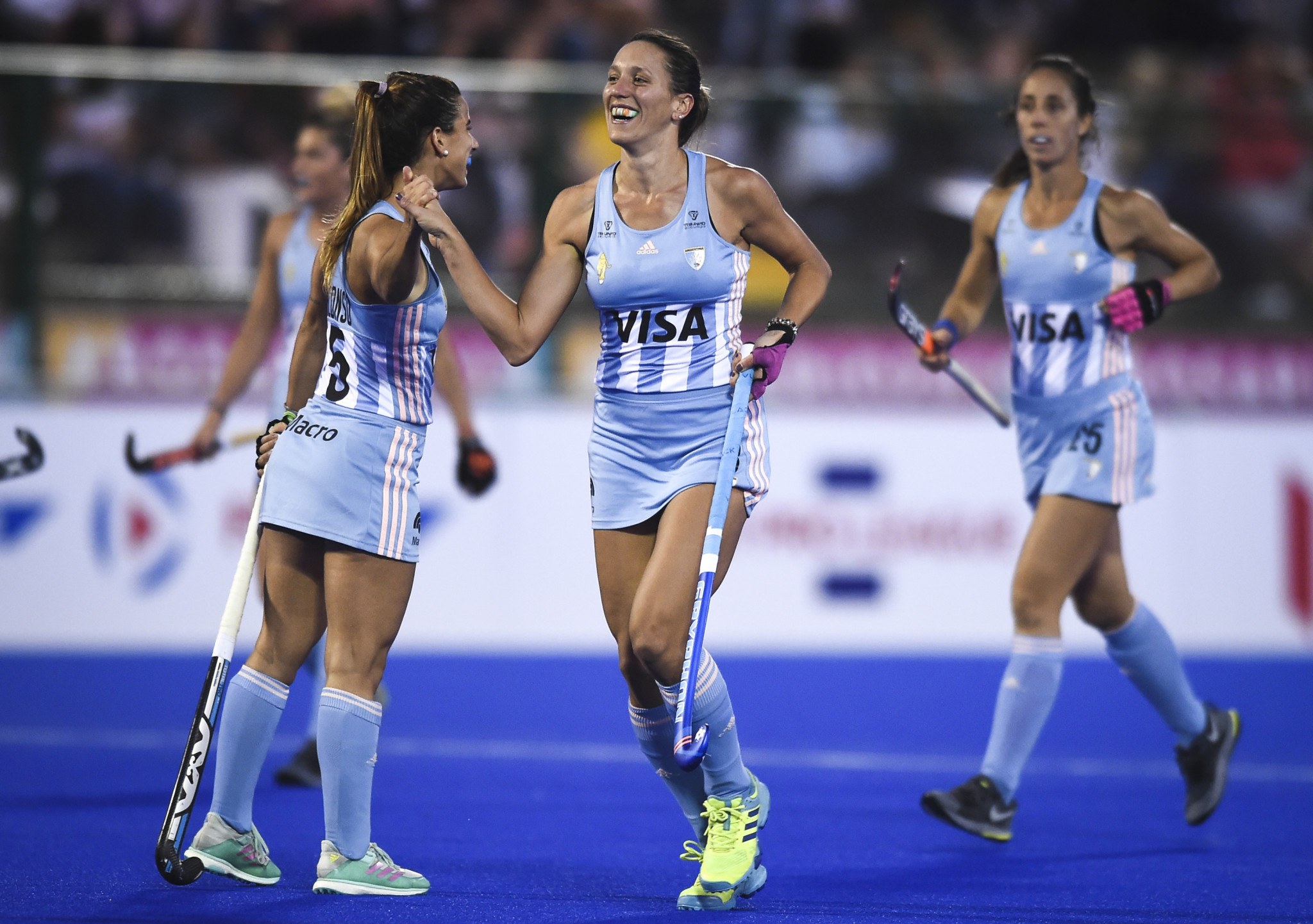 Argentina's women finally conceded a goal, but still beat Great Britain 4-2 ©Getty Images