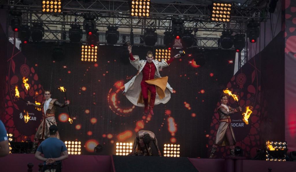 Baku 2015 flame continues journey across Azerbaijan