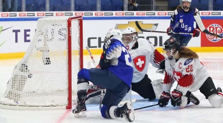 United States power on at IIHF Women's World Championships with thrashing of Switzerland