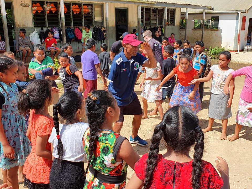 Para-athlete Selemaia Loamanu helped run the programme in Tonga ©ITTF Oceania