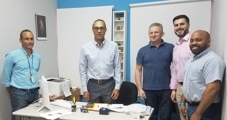 "FIAS executive director Sergei Tabakov, third from left, is confident the 2019 Pan American Sambo Championships will be held to ""high standards"" after taking part in an inspection trip to the host city of Santo Domingo ©FIAS"