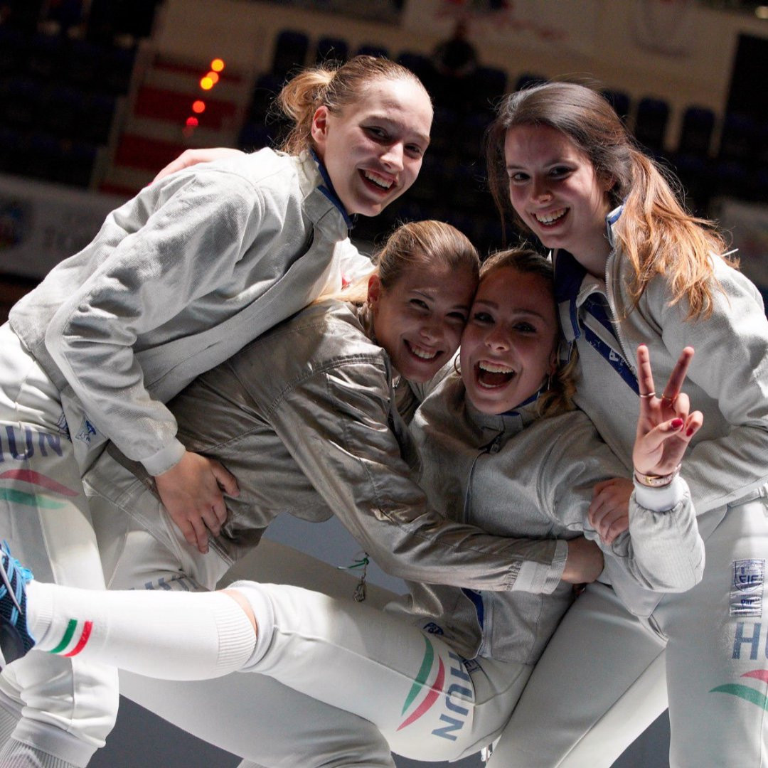 Hungary claim junior women's team sabre title at Junior and Cadet World Fencing Championships