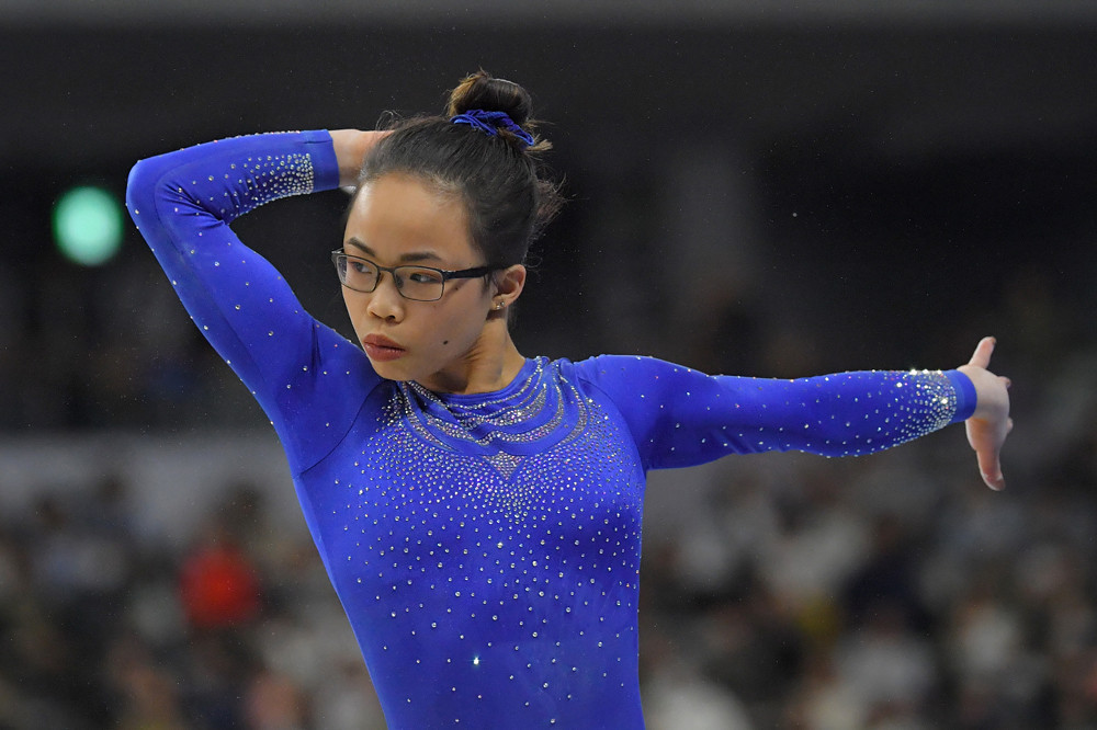 Morgan Hurd made a successful return to competition after undergoing minor elbow surgery in December ©FIG/Rimako Takeuchi