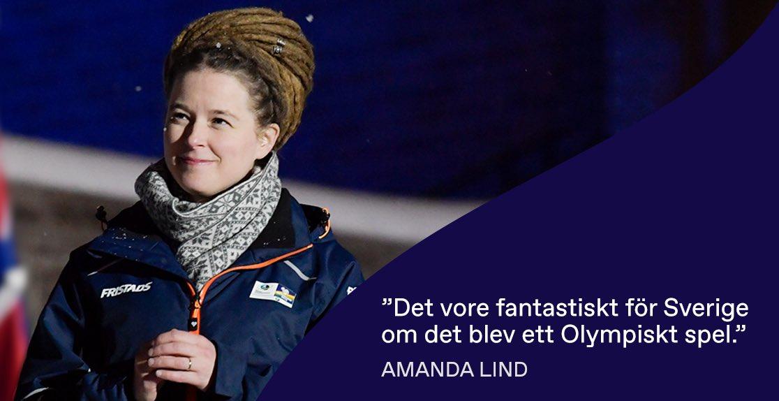 Sweden's Minister of Sport and Culture Amanda Lind announced Government support for Stockholm Åre 2026 ©Stockholm Åre 2026