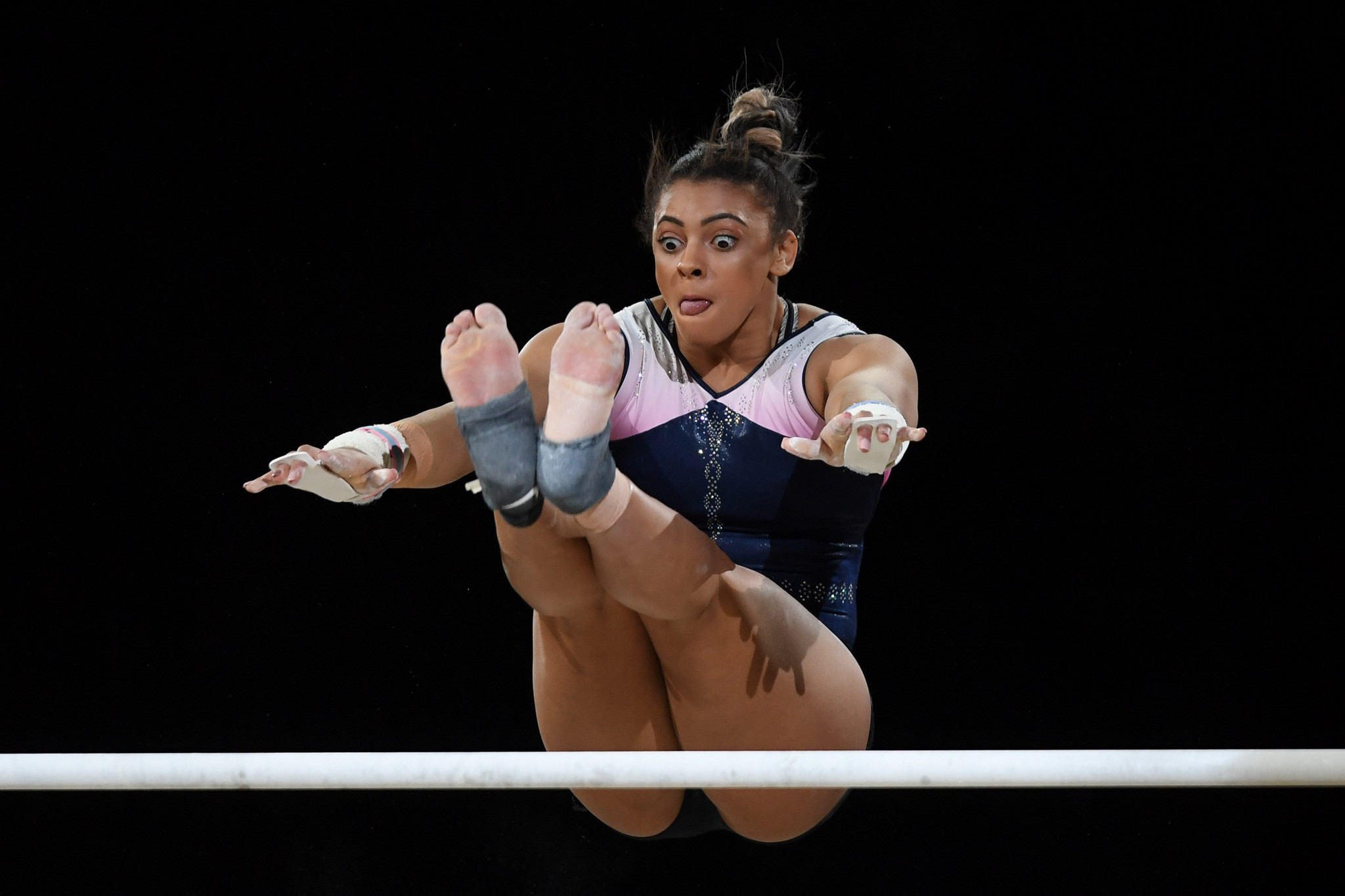 Great Britain's Ellie Downie will be looking to defend her women's all-around title ©Getty Images