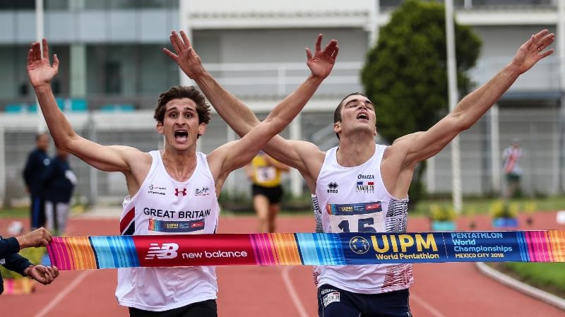 Britain's Jamie Cooke, left, will return to top level competition at the UIPM World Cup in Sofia ©UIPM