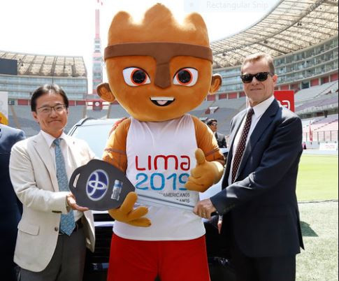 Toyota are revealed as Lima 2019 gold sponsors at the National Stadium ©Lima 2019