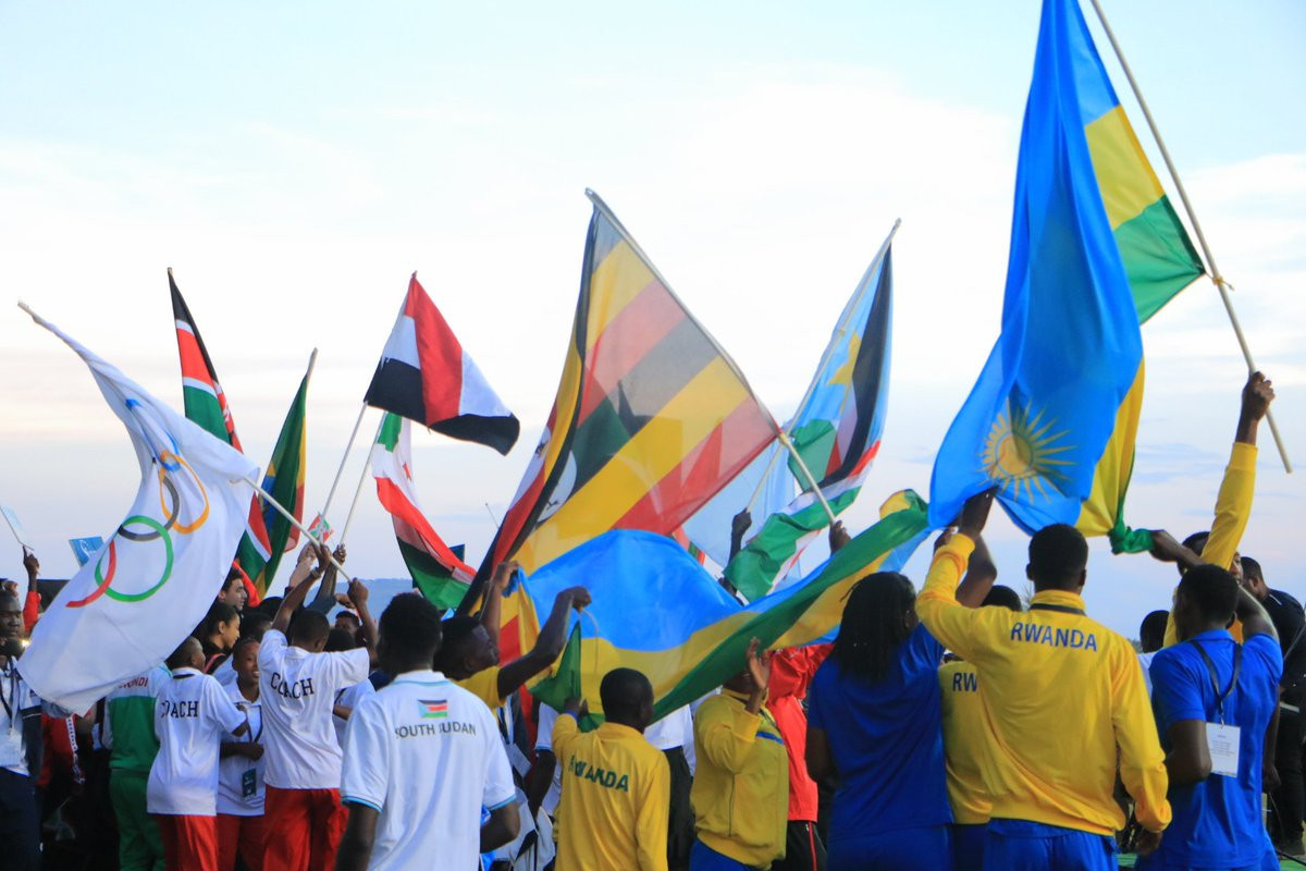 Athletes from 12 countries took part in the first ANOCA Zone V Youth Games in Rwanda ©Twitter