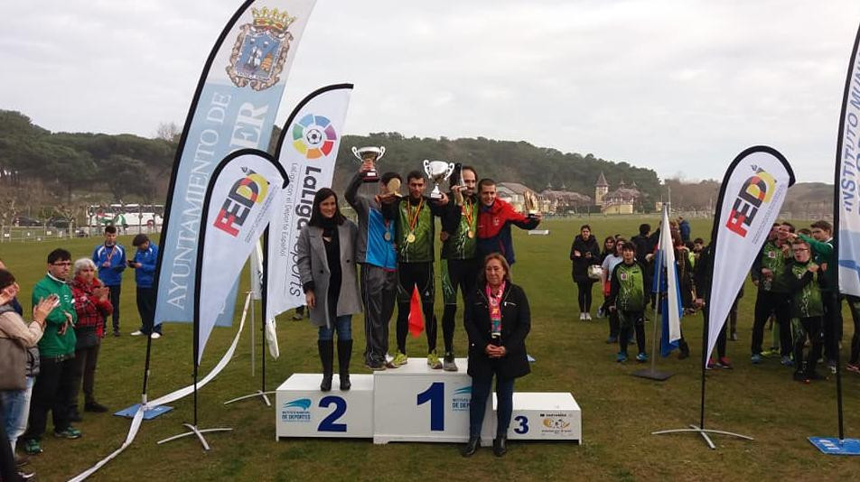 Spain prevented hosts Poland from achieving a clean sweep at the INAS Athletics Cross-Country World Championships by winning the men's long distance ©Twitter