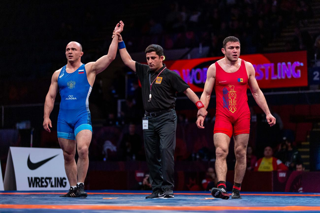 Vladislav Valiev was Russia's sole champion today as the country claimed the freestyle team title at the European Wrestling Championships in Bucharest ©UWW