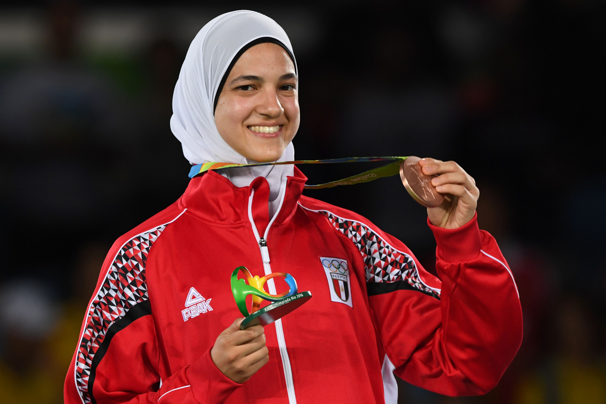 Egypt's Hedaya Malak Wahba, a candidate for the World Taekwondo Athletes' Committee, won the Olympic bronze medal in the under-57kg category at Rio 2016 ©Getty Images