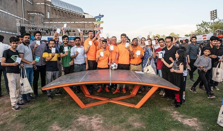 International Teqball Federation donates two tables to Pakistan after white card event