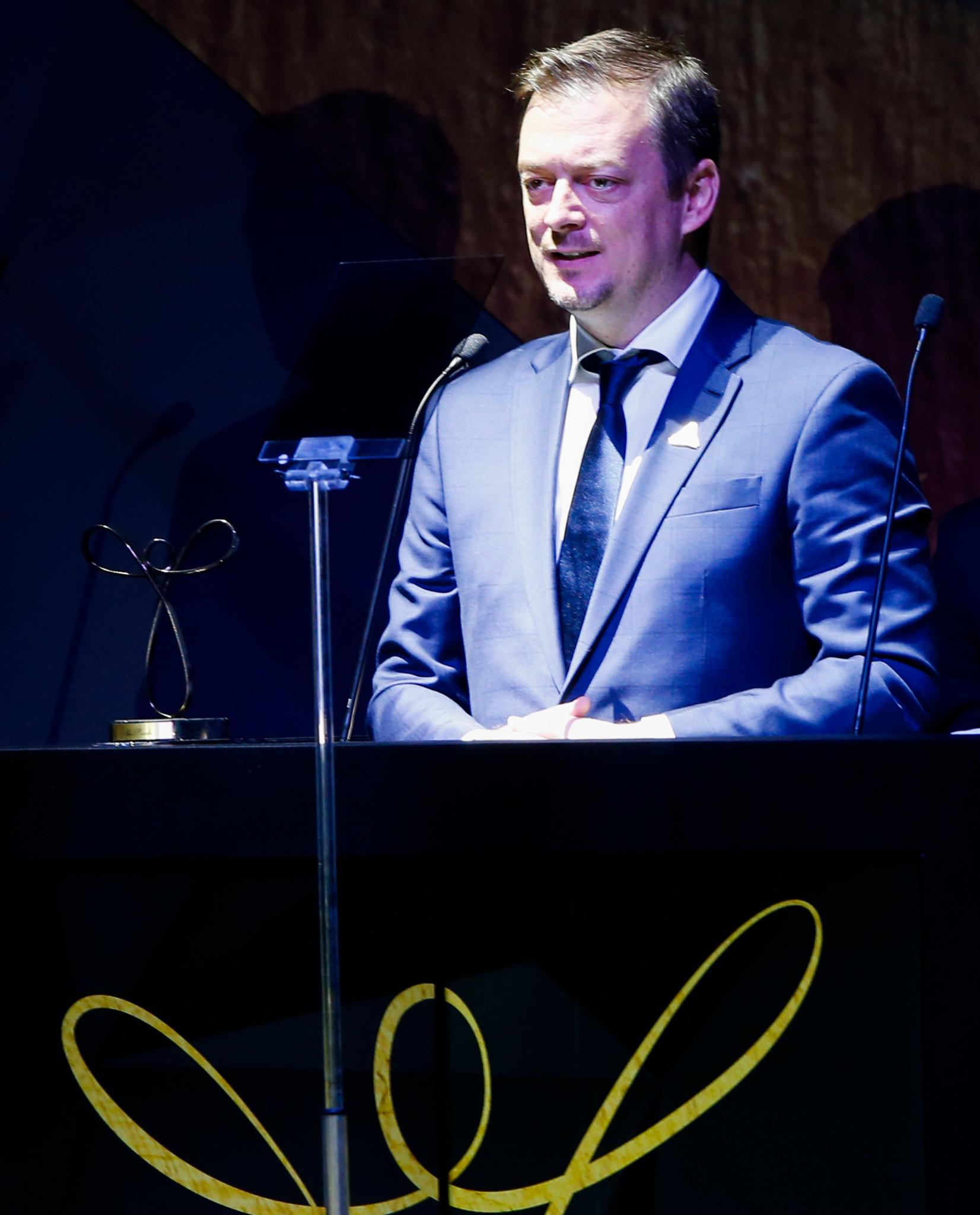 IPC President Andrew Parsons, pictured speaking in his native Brazil last year, said the decision to conditionally reinstate the Russian Paralympic Committee this year was