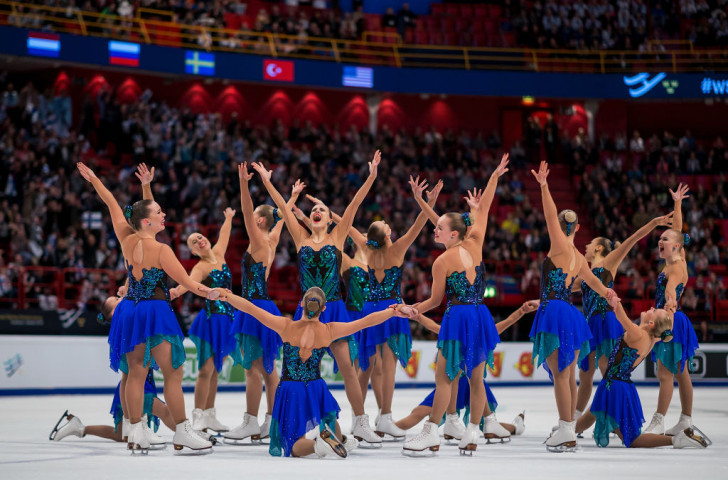 Finland's Team Marigold Ice Unity, with whom new International Skating Union Athletes Commission member Ida Hellström won a gold medal at the World Synchronized Skating Championships in 2014 ©ISU