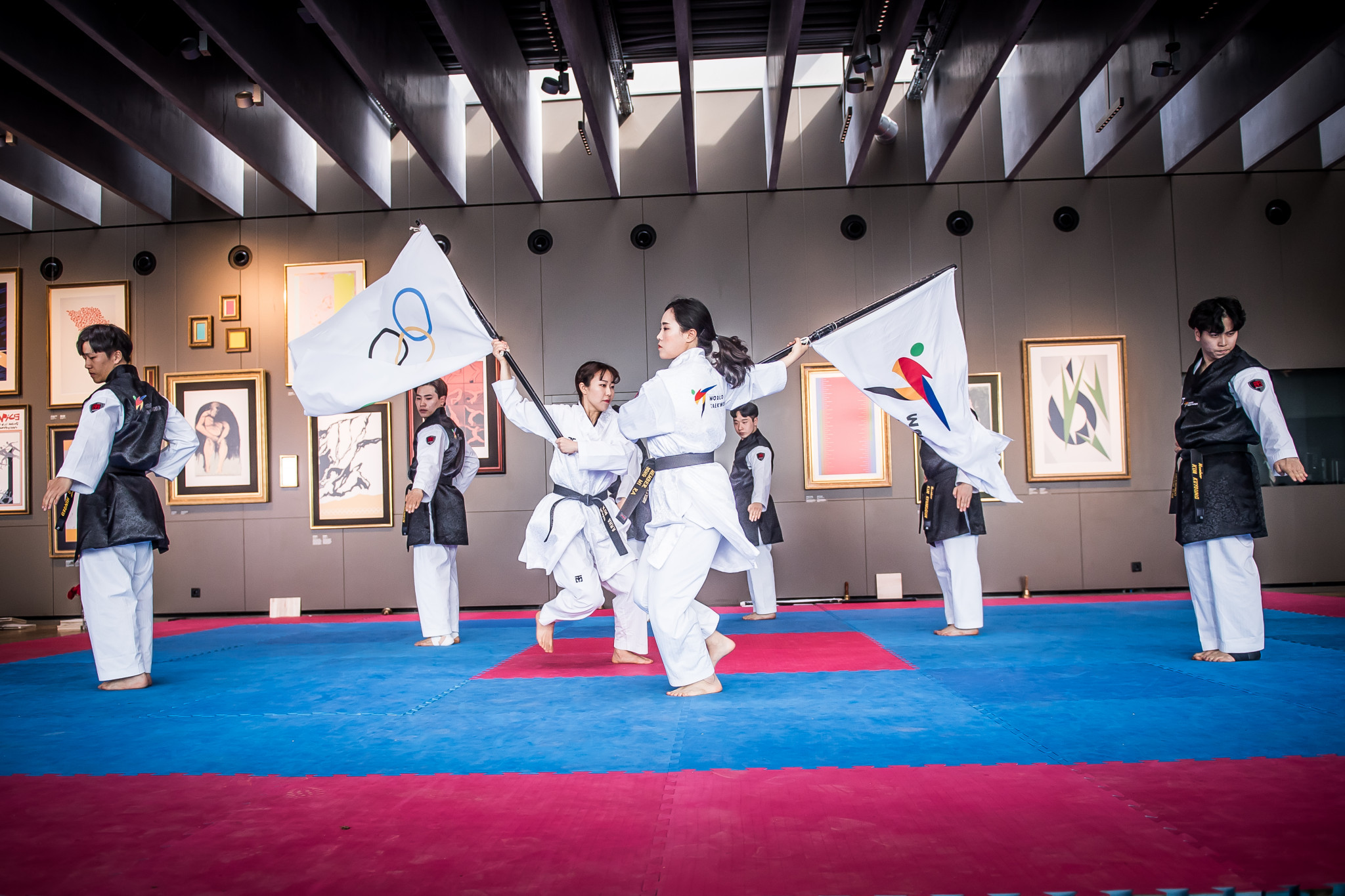 A second joint WT-ITF demonstration was held at the Olympic Museum in Lausanne ©World Taekwondo