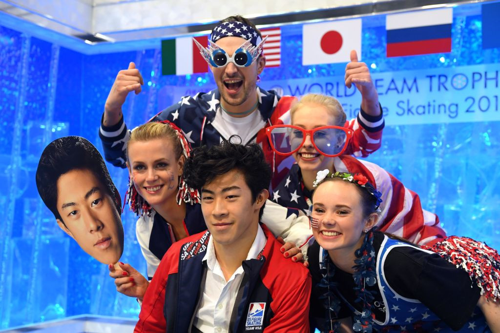 A winning performance from world champion Nathan Chen helped Team USA lead on day one of the ISU World Team Trophy in Fukuoka ©ISU