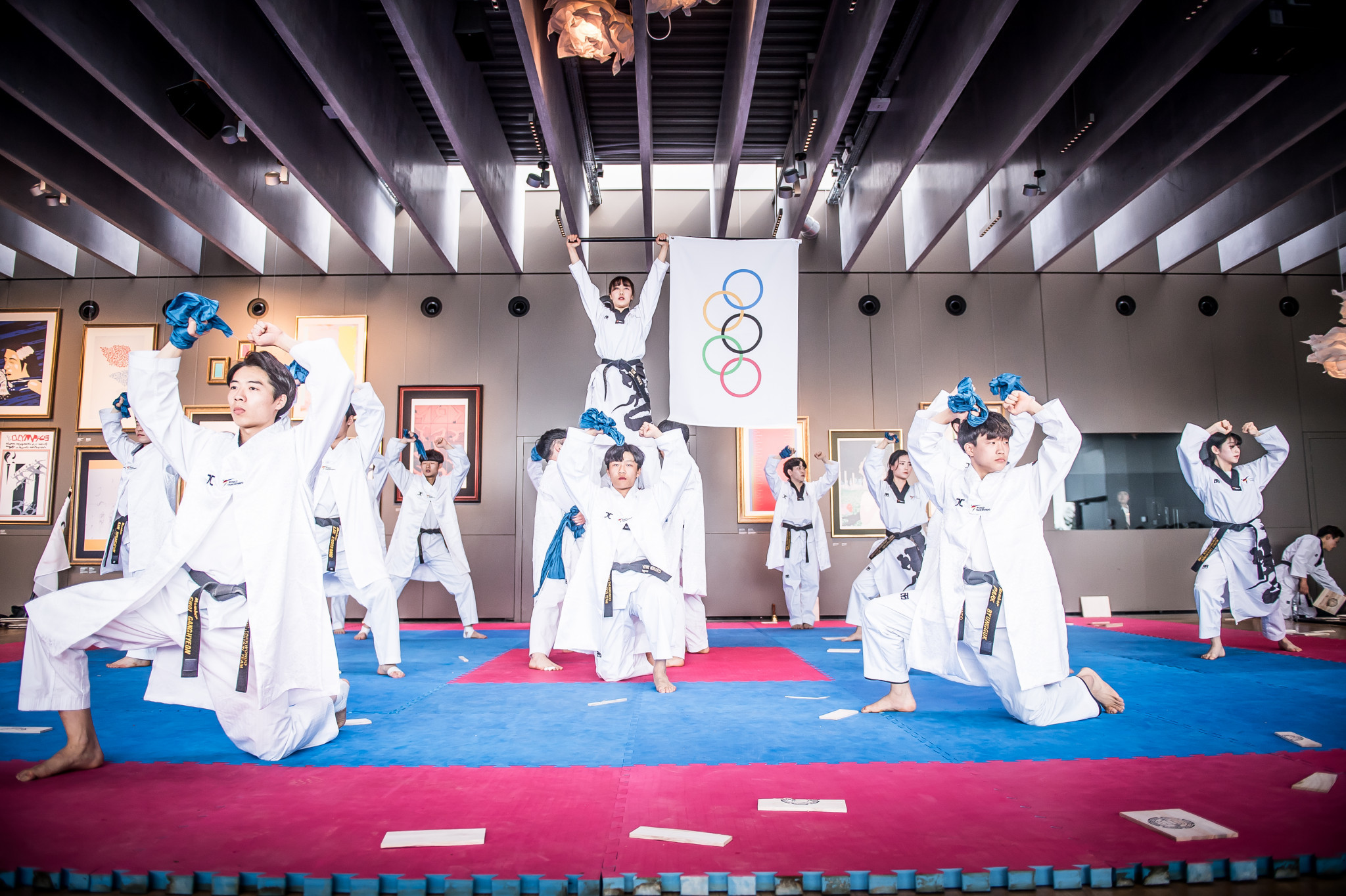 Today's joint WT-ITF demonstration celebrated the 25th anniversary of taekwondo's inclusion in the Summer Olympic programme ©World Taekwondo