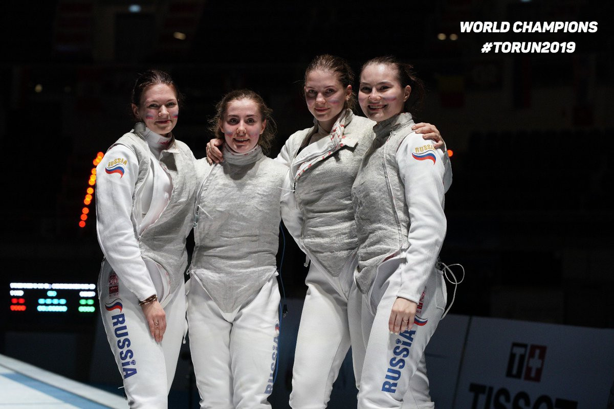 Russia secure men's and women's junior team foil double at Junior and Cadets World Fencing Championships
