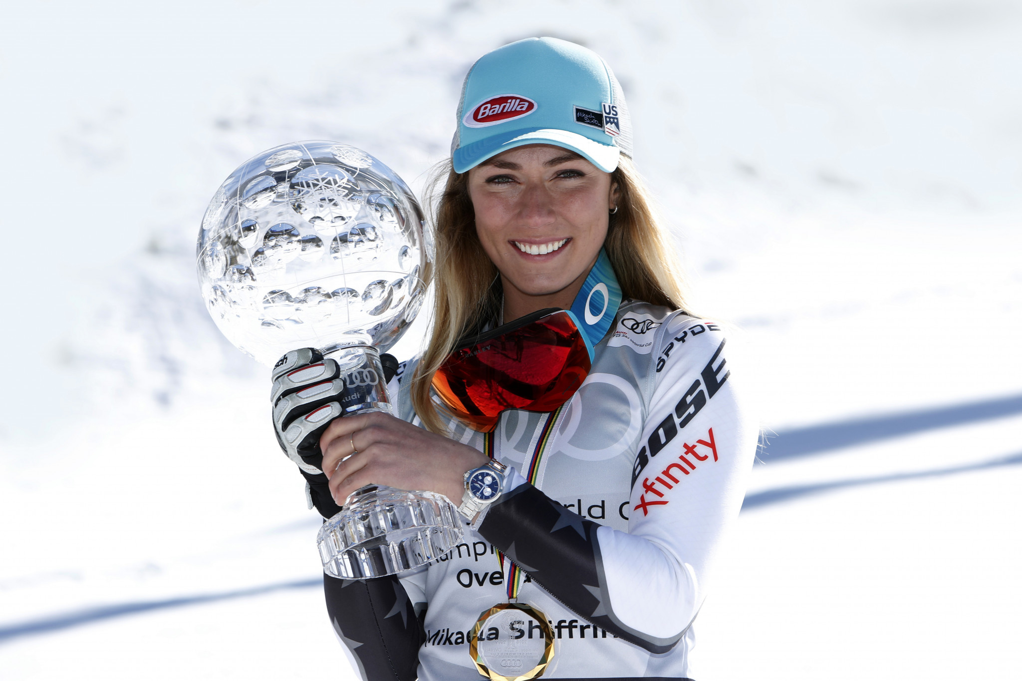 Mikaela Shiffrin received the women's USOC Best of March Team USA Award ©Getty Images