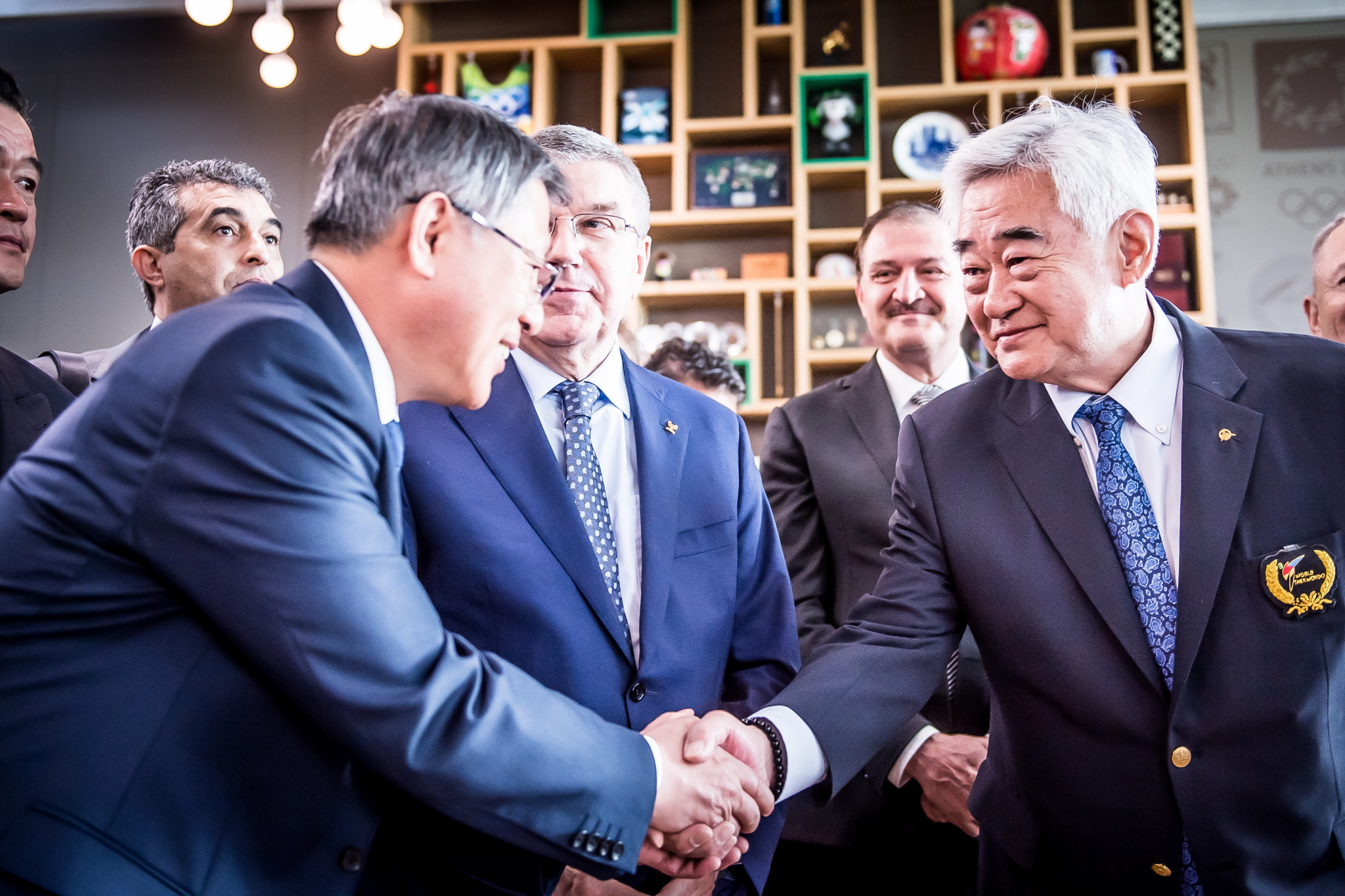 WT President Choue Chung-won and ITF President Ri Yong-son were in attendance at the joint demonstration at the Olympic Museum in Lausanne ©World Taekwondo