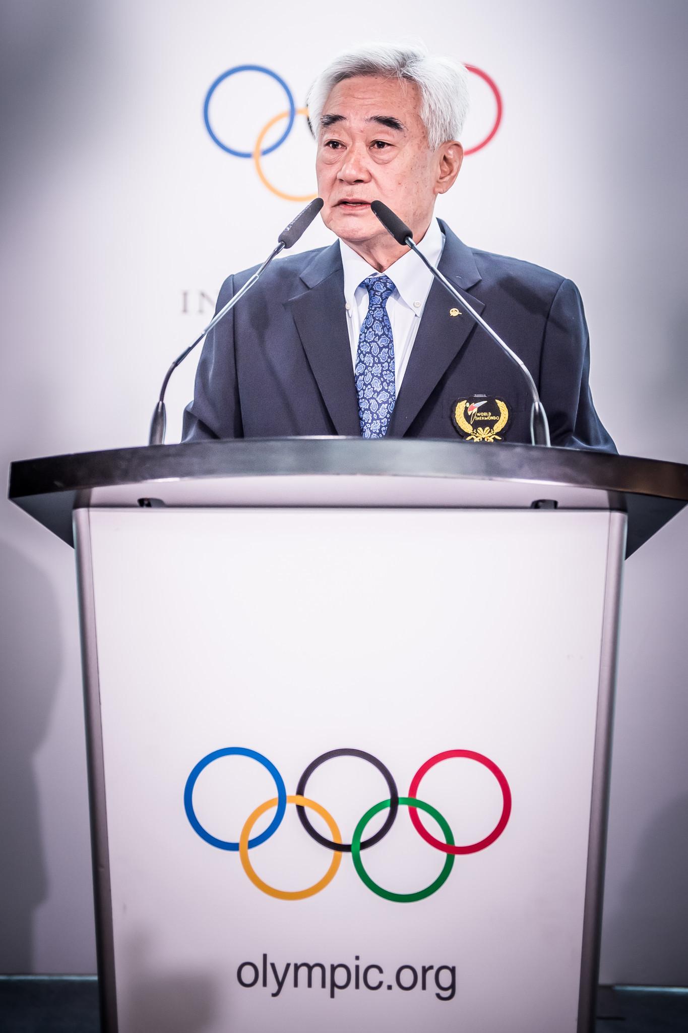 Choue opened the proceedings with a speech ©World Taekwondo