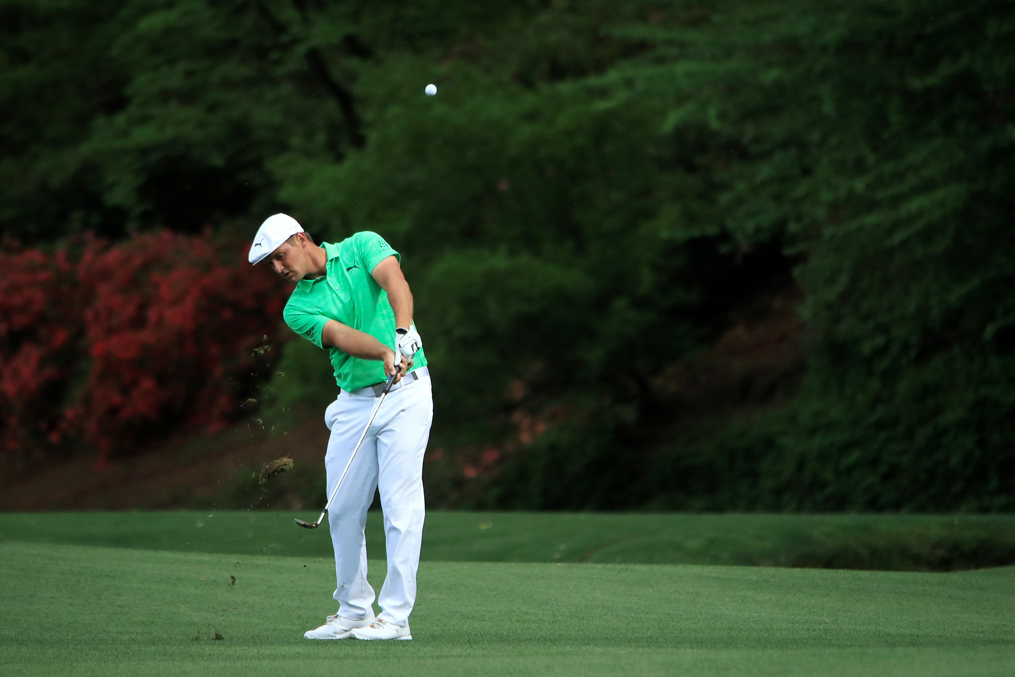 Bryson DeChambeau became the first player since 2013 to pick up a shot on each of the last four holes ©Getty Images