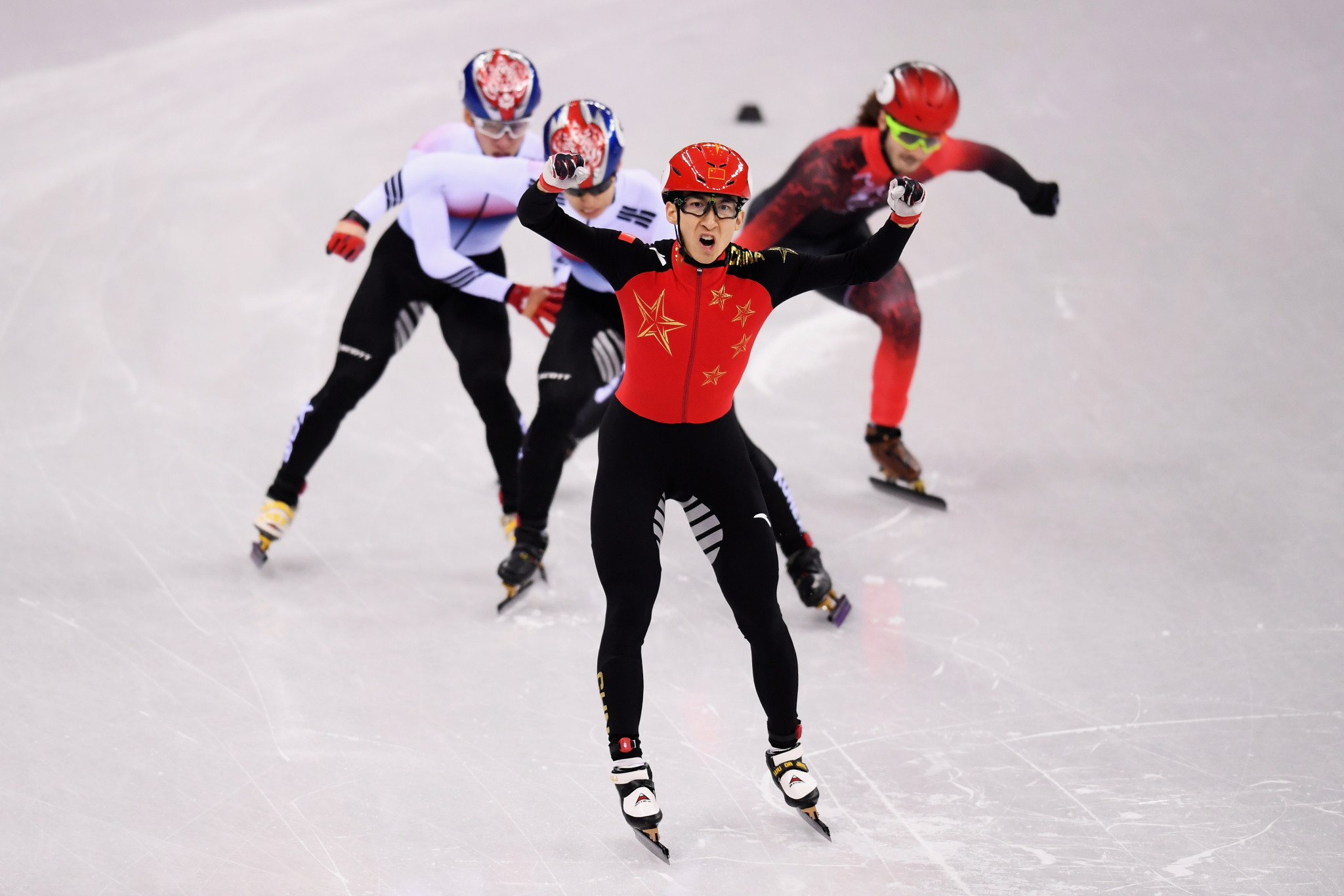 Short track speed skater Wu Dajing was China's sole Olympic gold medallist at Pyeongchang 2018 ©Getty Images