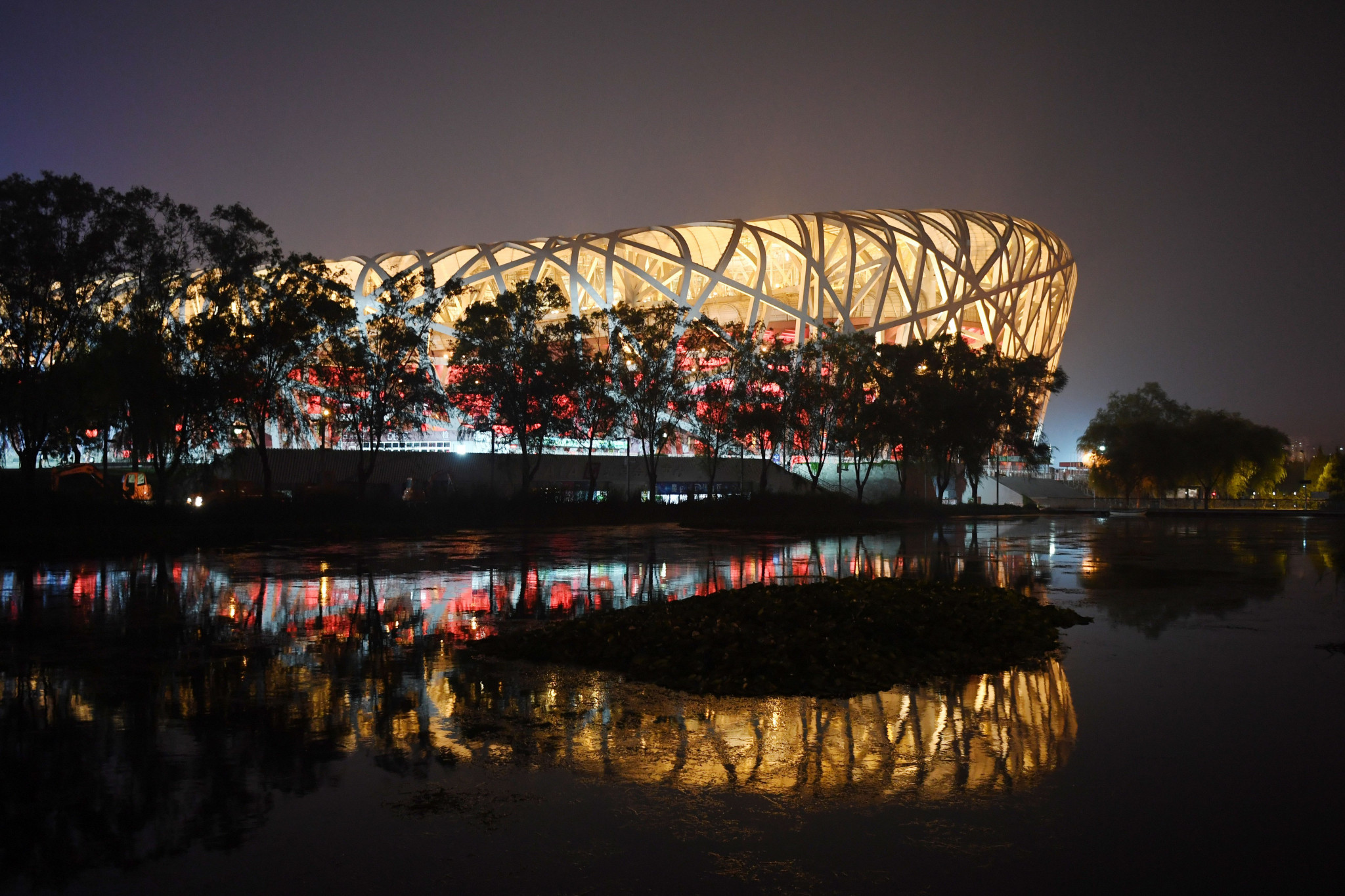 Representatives from the world's leading news agencies visited facilities for Beijing 2020 such as the National Stadium ©Getty Images