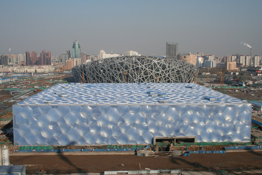 Media representatives were reportedly impressed with the way the National Stadium and National Aquatics Centre will be transformed for the Beijing 2022 Winter Olympics ©Wikipedia