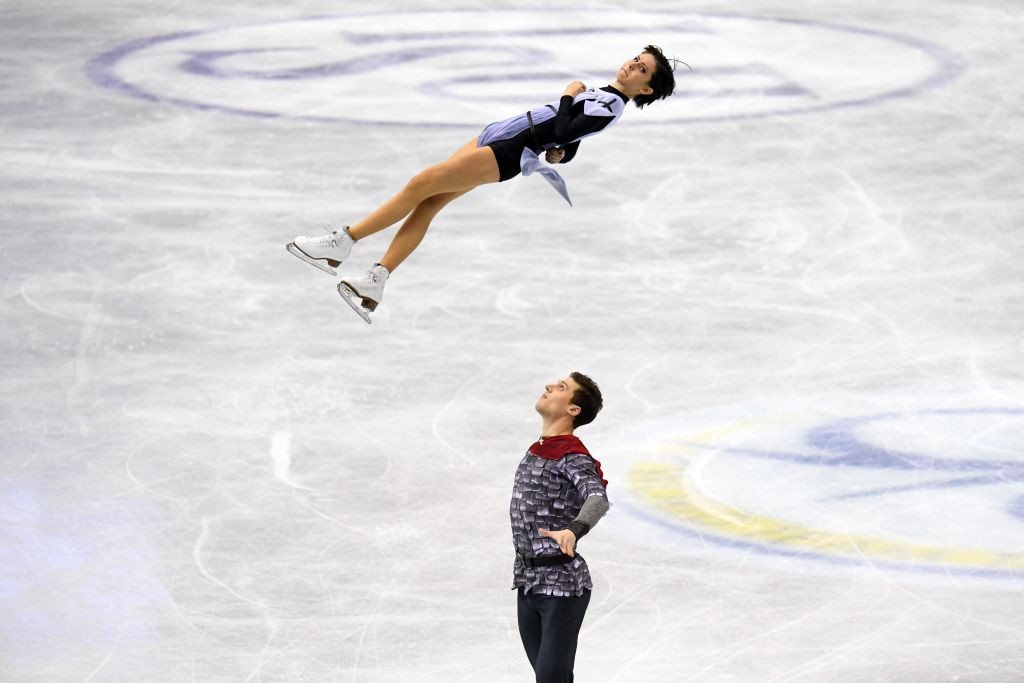 Natalia Zabiiako and Alexander Enbert earned 12 points for Team Russia by winning the pairs short programme on the second day of the ISU World Team Trophy n Fukuoka ©ISU