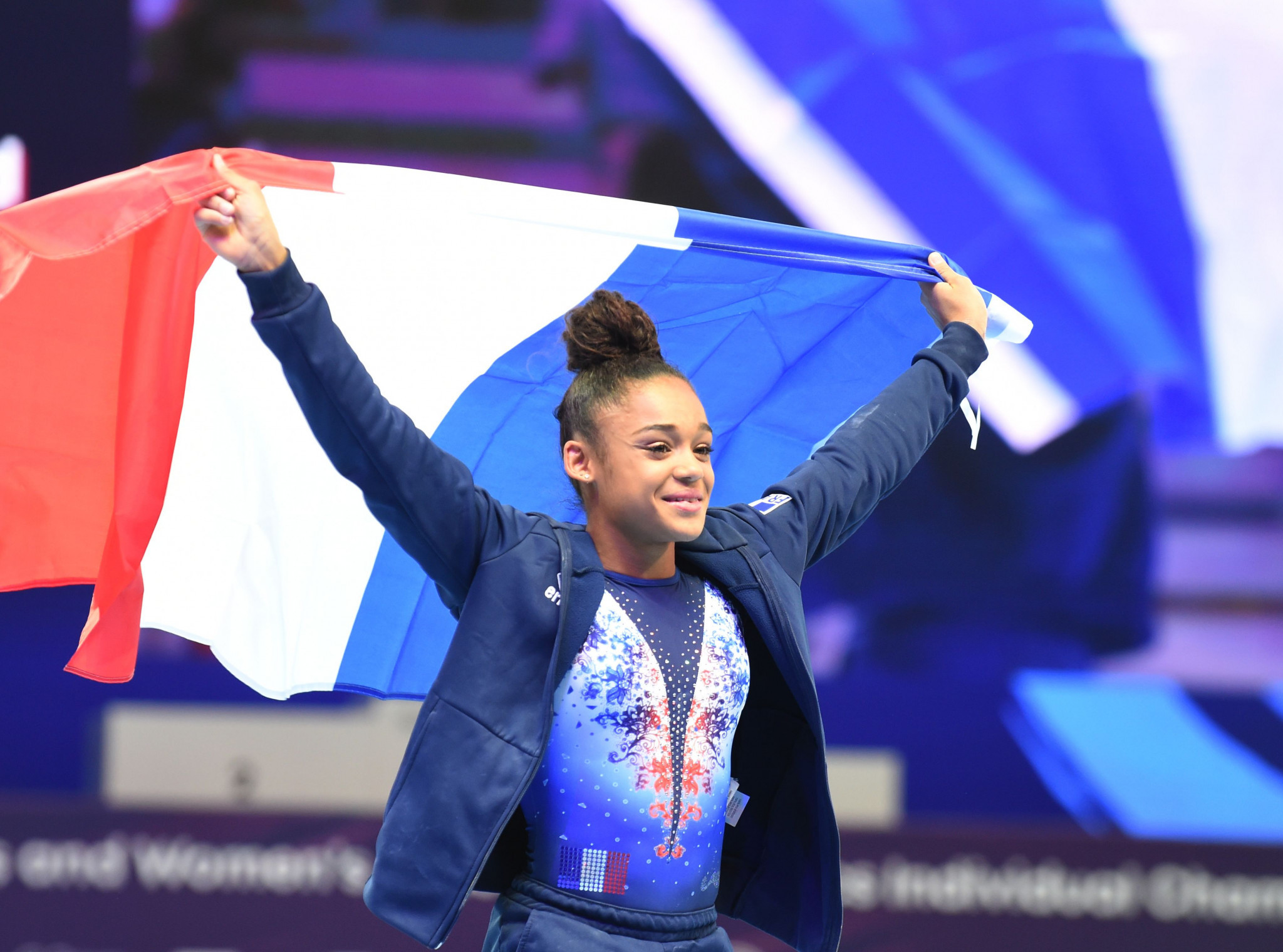 France's Melanie De Jesus Dos Santos took the women's all-around title at the European Artistic Gymnastics Individual Championships ©Getty Images
