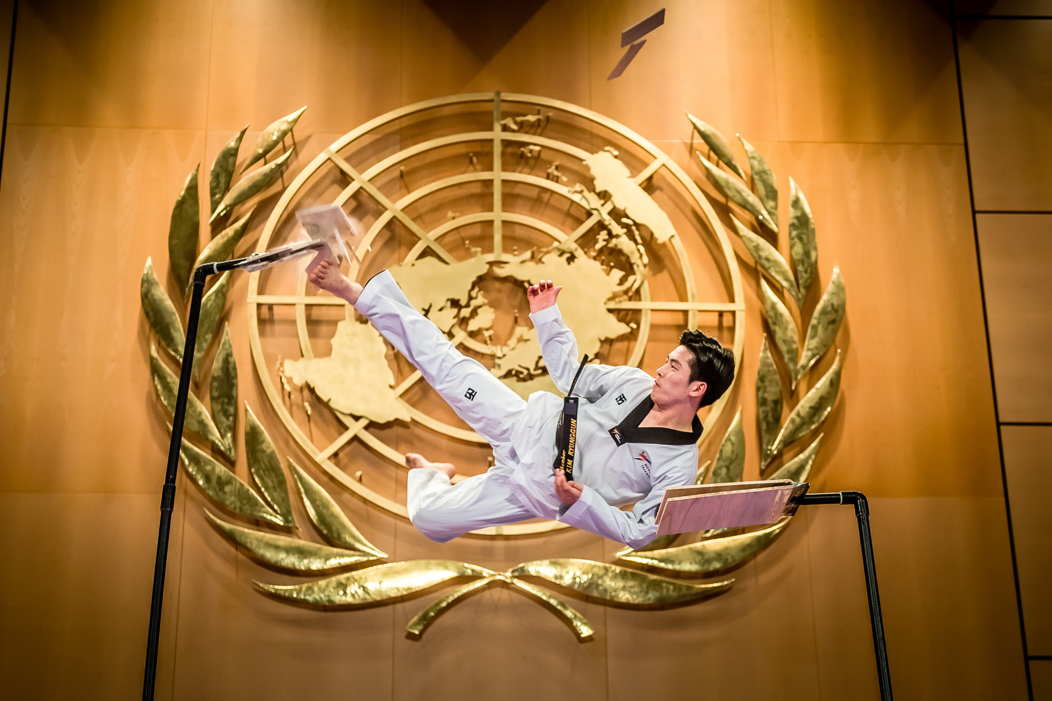 WT and ITF concluded a week of joint demonstrations at the UN Geneva office ©World Taekwondo