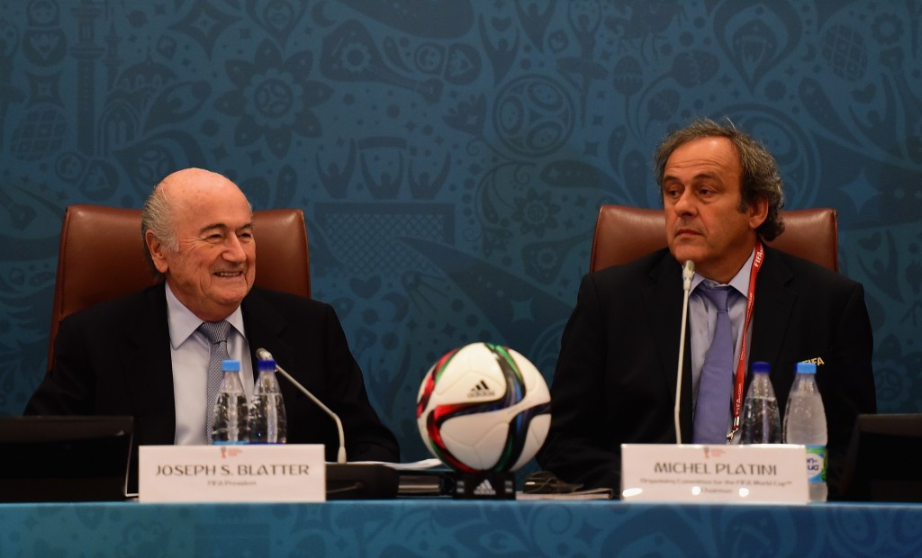 FIFA's disgraced President Sepp Blatter (left) has launched a stinging attack on Michel Platini, a potential candidate to replace him, accusing him of