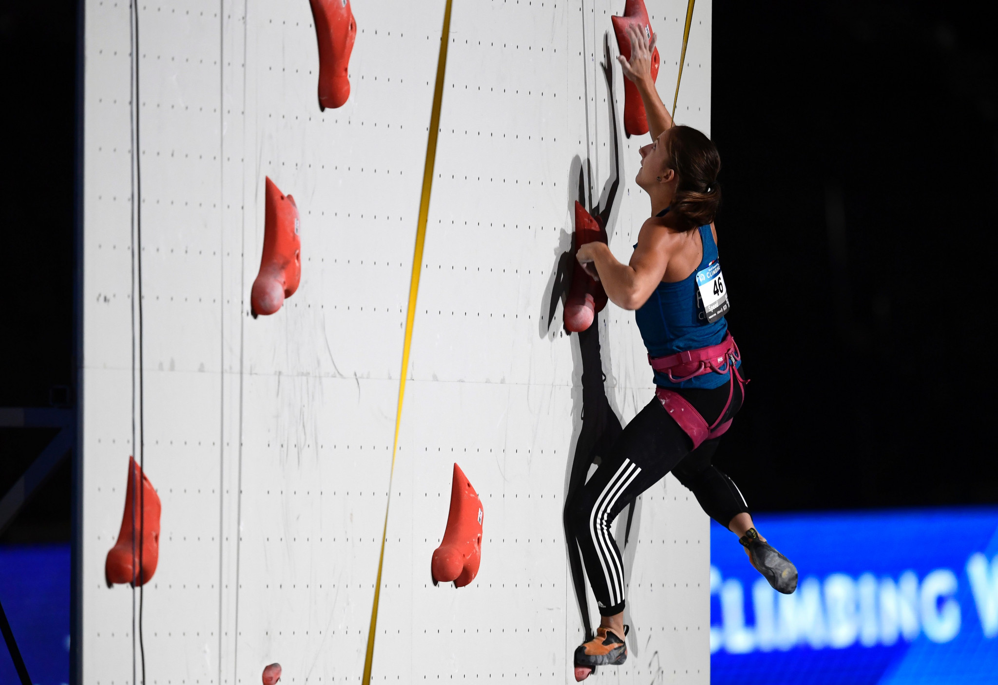 Anouck Jaubert failed to win a second gold medal for France in the women's speed final at the IFSC Climbing World Cup in Moscow ©Getty Images