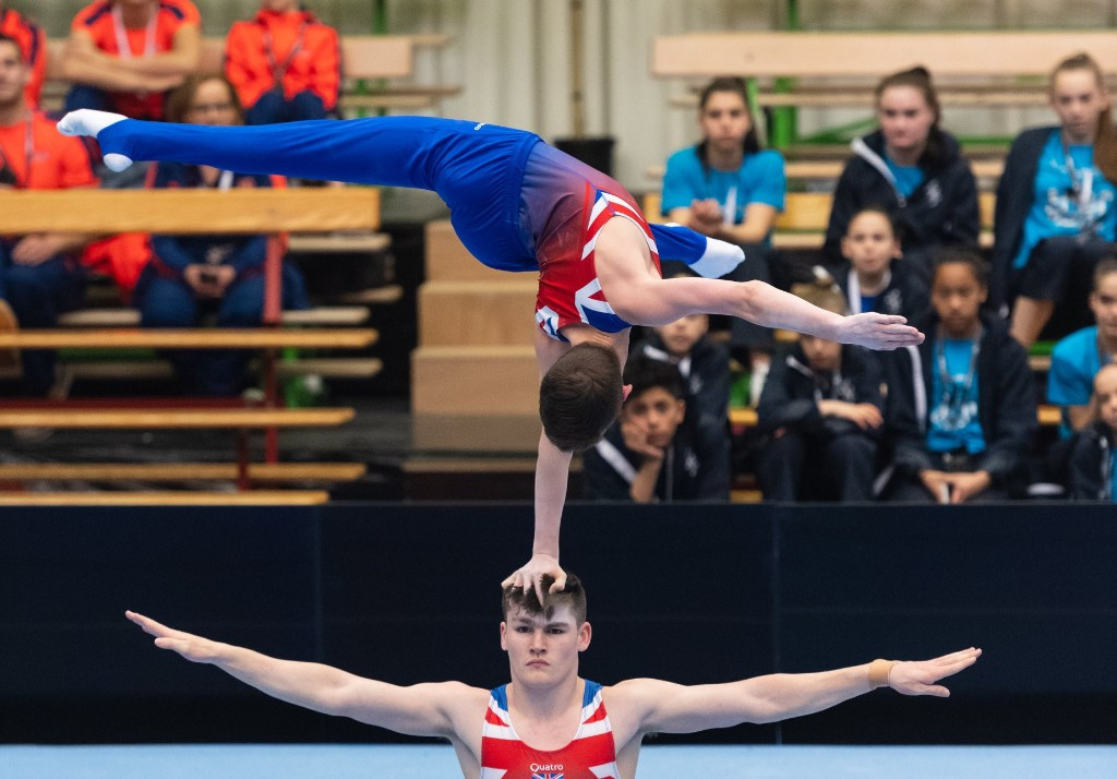The Acrobatic World Cup in Puurs is taking place in Sportcomplex De Vrijhals ©Facebook