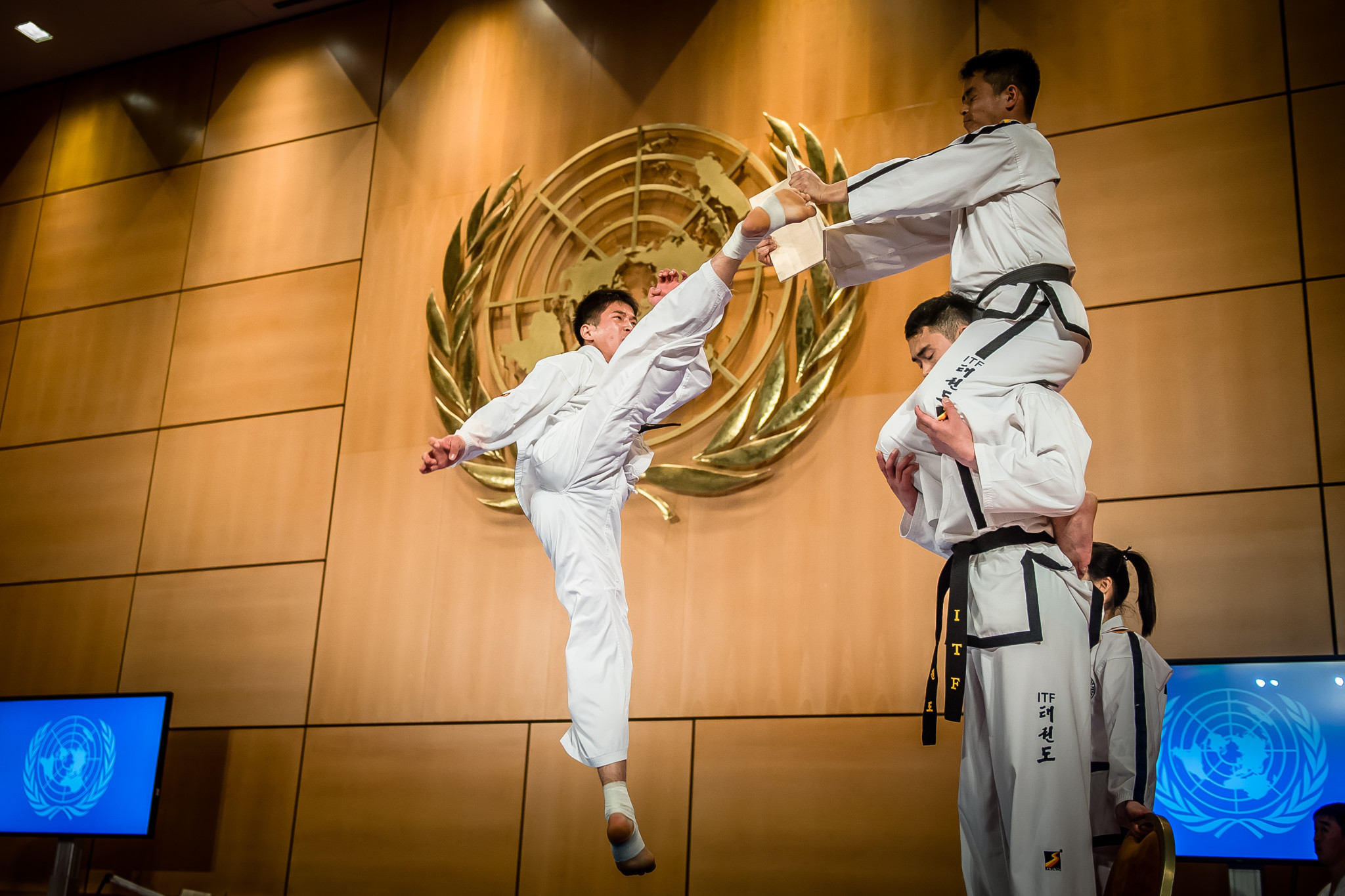The ITF team from North Korea performed for the audience first ©World Taekwondo