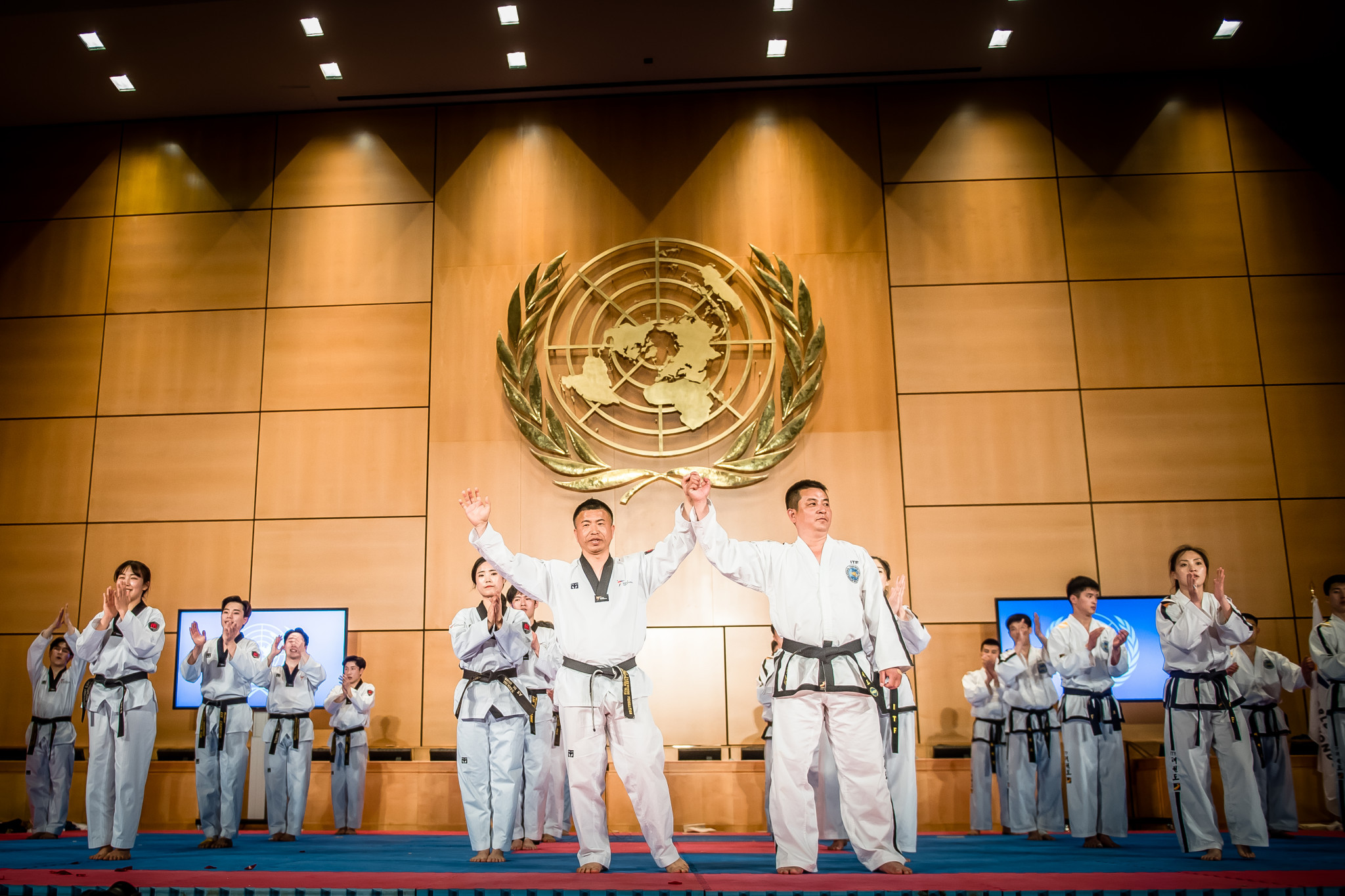 The performance marked the end of a week of joint WT-ITF demonstrations ©World Taekwondo