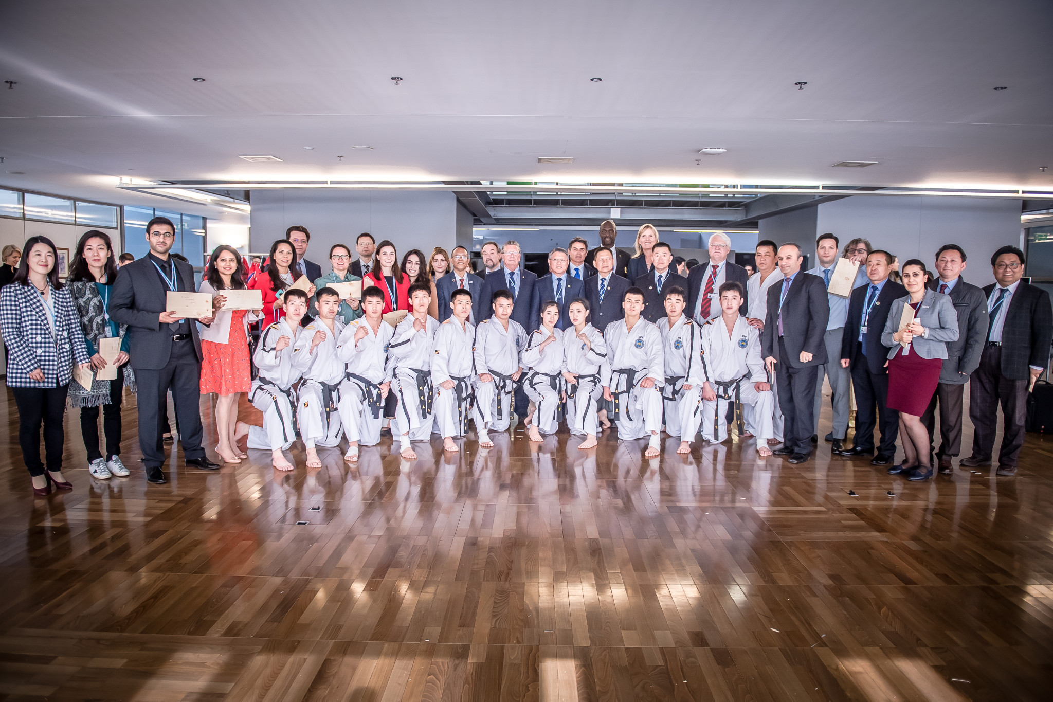 The demonstration was part of the World Summit on the Information Society Forum ©World Taekwondo